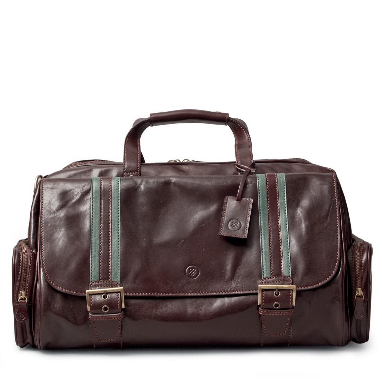 7bedeaeba8 Luxury Italian Leather Men s Duffle Bag Dino M Chocolate Brown ...