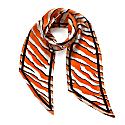 Wild Tiger Silk Neck Scarf Orange image
