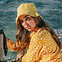 Florette Crochet Bucket Hat in Yellow image