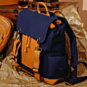 The Everyday Canvas Backpack - Blue On Tan image