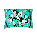 Harlequin Green Silk Pillowcase & Eyemask image