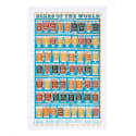 Beers Of The World Tea Towel  image