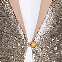 Sequenced Beige & Gold Classic Blazer Clarisa image