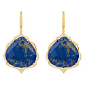 Antoinette Earrings Gold Blue Lapis Lazuli image