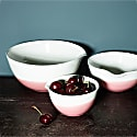 Pink Colour Dip Nested Bowl - Set Of 3 image