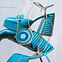 Solar Power Turquoise Gemstone & Rose Gold Vermeil Necklace image