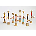 Pipework Candlestick Large Grey Walnut Red image