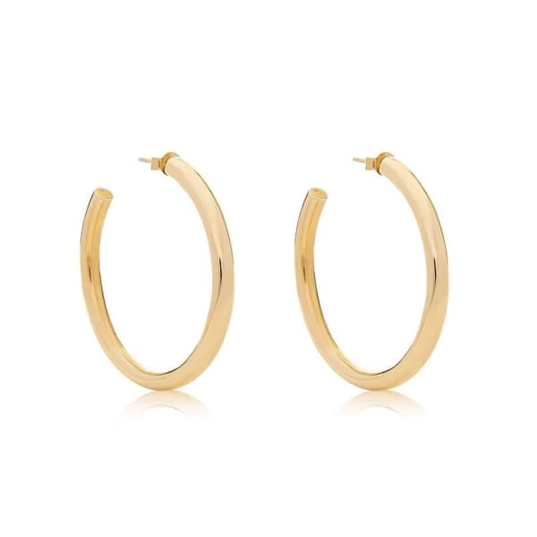 EDGE OF EMBER Tube Gold Hoops