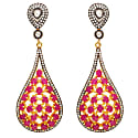 Pink & Crystal Statement Earrings image