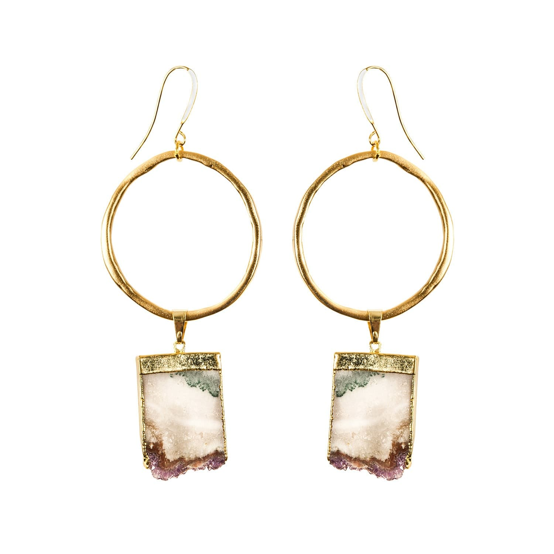 31085a9ff Amethyst Gold Hoop Earrings Sari Collection | Tiana Jewel | Wolf ...