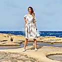 Venus Dress White & Beige image
