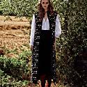 Black Linen Suspender Culottes image