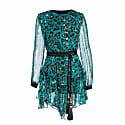 Asymmetrical Print Silk Dress image