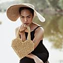 Hati Heart Wood-Beaded Tote Bag image