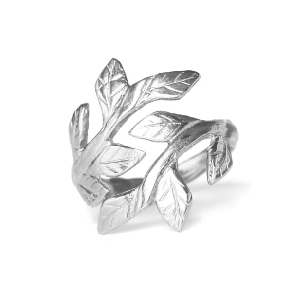CHUPI Wrap Your Laurels Around Me Ring Silver
