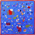 Cyclades Silk Scarf Space Blue image