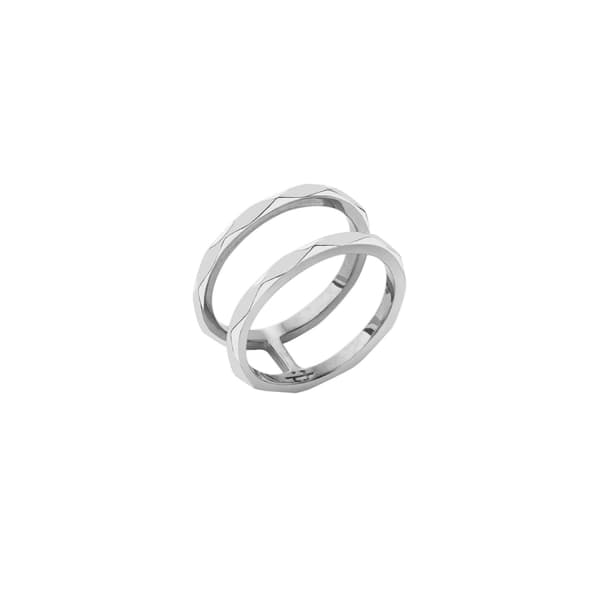 Facet Silver Ring