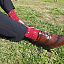 Burgundy Burgess & Winter Square Polka Men's Socks image