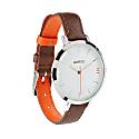 Montmartre Sterling Silver Watch With Chestnut Brown & Orange Strap image