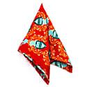 Family Crest - Orange - Hand Rolled Silk Pocket Square image