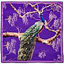 Peacock Scarf Purple image