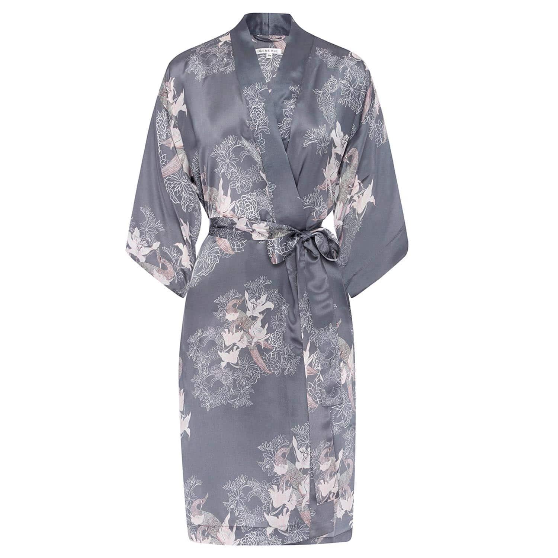 Sweet Peas Silk Kimono Robe  97c2b70b4