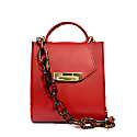 Romi Croc Embossed Bag In Saffron Red image