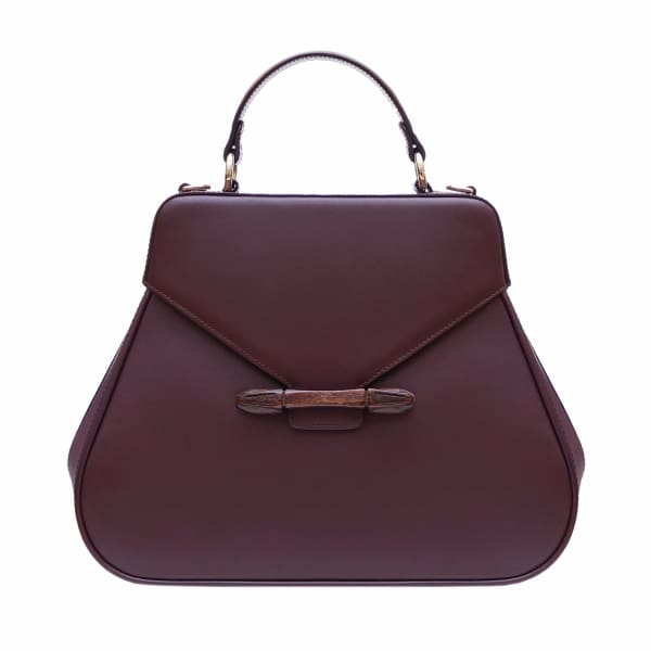 AEVHA LONDON Carnelia Tote In Mulberry
