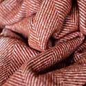 Recycled Wool Blanket In Rust Herringbone image
