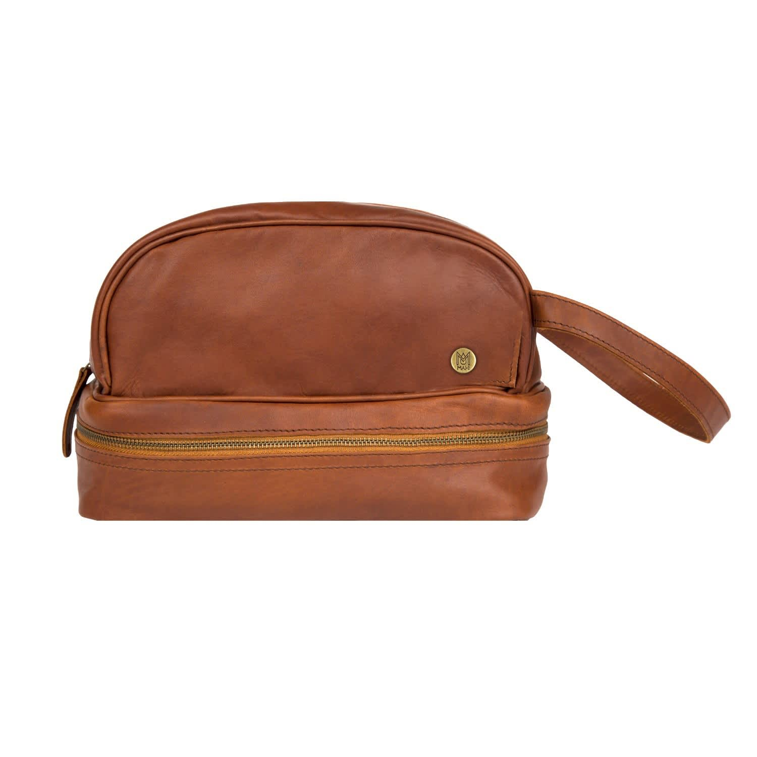 827dcc5480 Leather Raleigh Toiletry Bag In Vintage Brown image