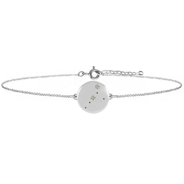NO 13 Cancer Zodiac Constellation Bracelet Diamonds & Silver