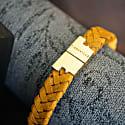 Mustard Gold Leather Bracelet Serac Bracelet image