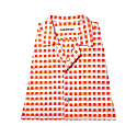 Yukata Shirt - Orange & White image