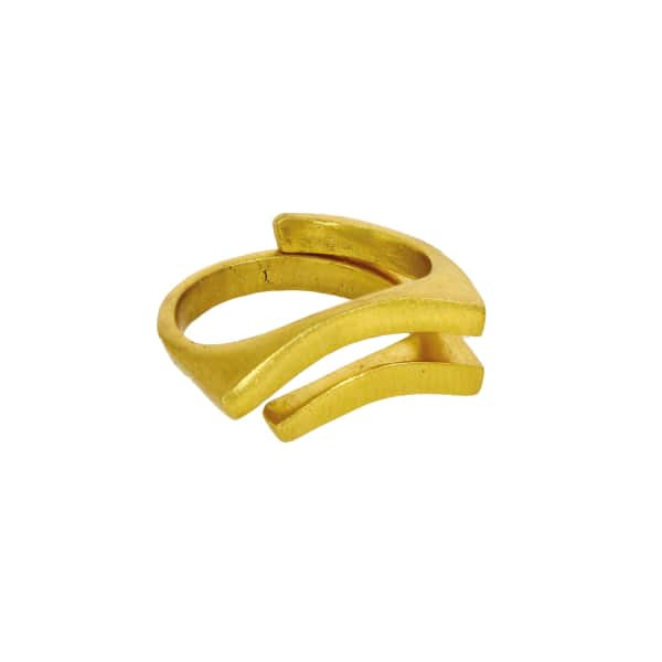 OTTOMAN HANDS Gold Double Groove Ring