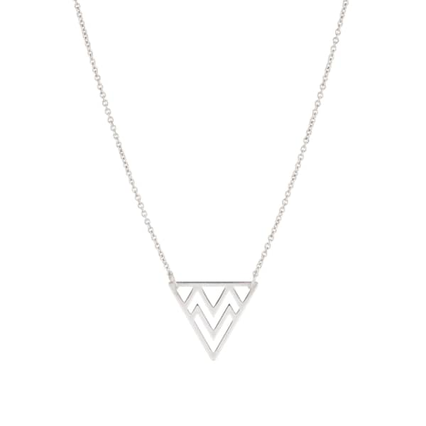 FEATHER+STONE Silver Tribal Triangle Necklace