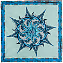 Water Mandala Neckerchief Silk Twill Scarf image