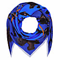 Square Scarf in Rainbow Trout Print Blue image