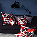 Koi I Style One Red & White Velvet Cushion Cover image
