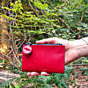 Sydney Double Sided Zips Leather Currency Wallet Red image