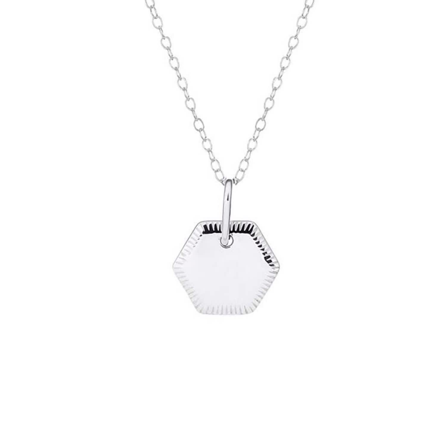 428ca394bf016 Sterling Silver Disc Pendant With Engraved Edge Detail With Chain by One  and One Studio