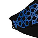 Lili Face Mask - Blue On Black image