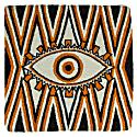 Evil Eye Cushion Orange image