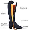 The Heeled Regina Navy Blue - Suede Boot image