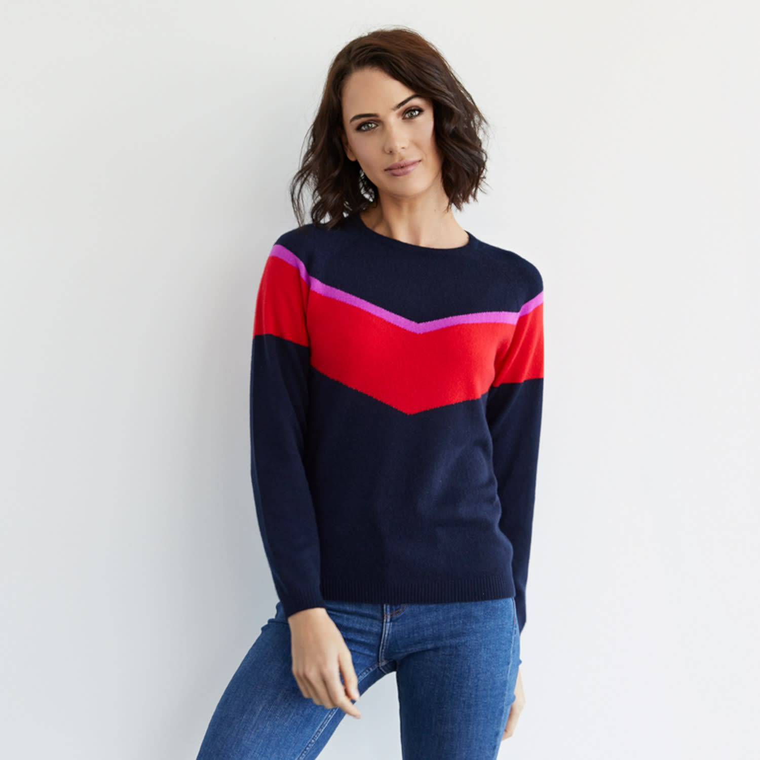 8a15d795e1 Alice Navy Cashmere Jumper by Cove