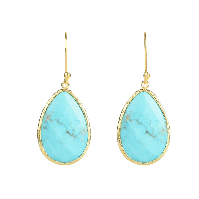 Latelita - Single Drop Earring Turquoise Gold