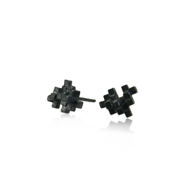 KAROLINA BIK JEWELLERY Tetris Earrings Black