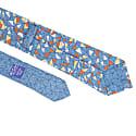 Teal Mosaic Printed Bourette Silk Tie image