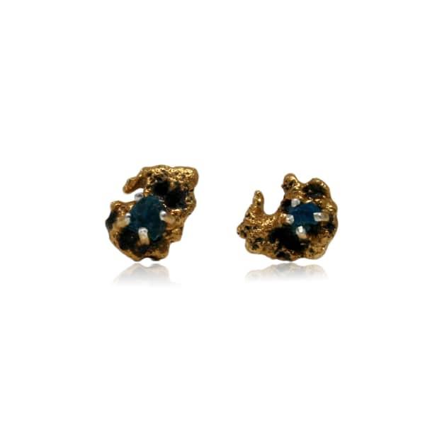 KAROLINA BIK JEWELLERY Out Of The Sea Earrings With Raw Apatite