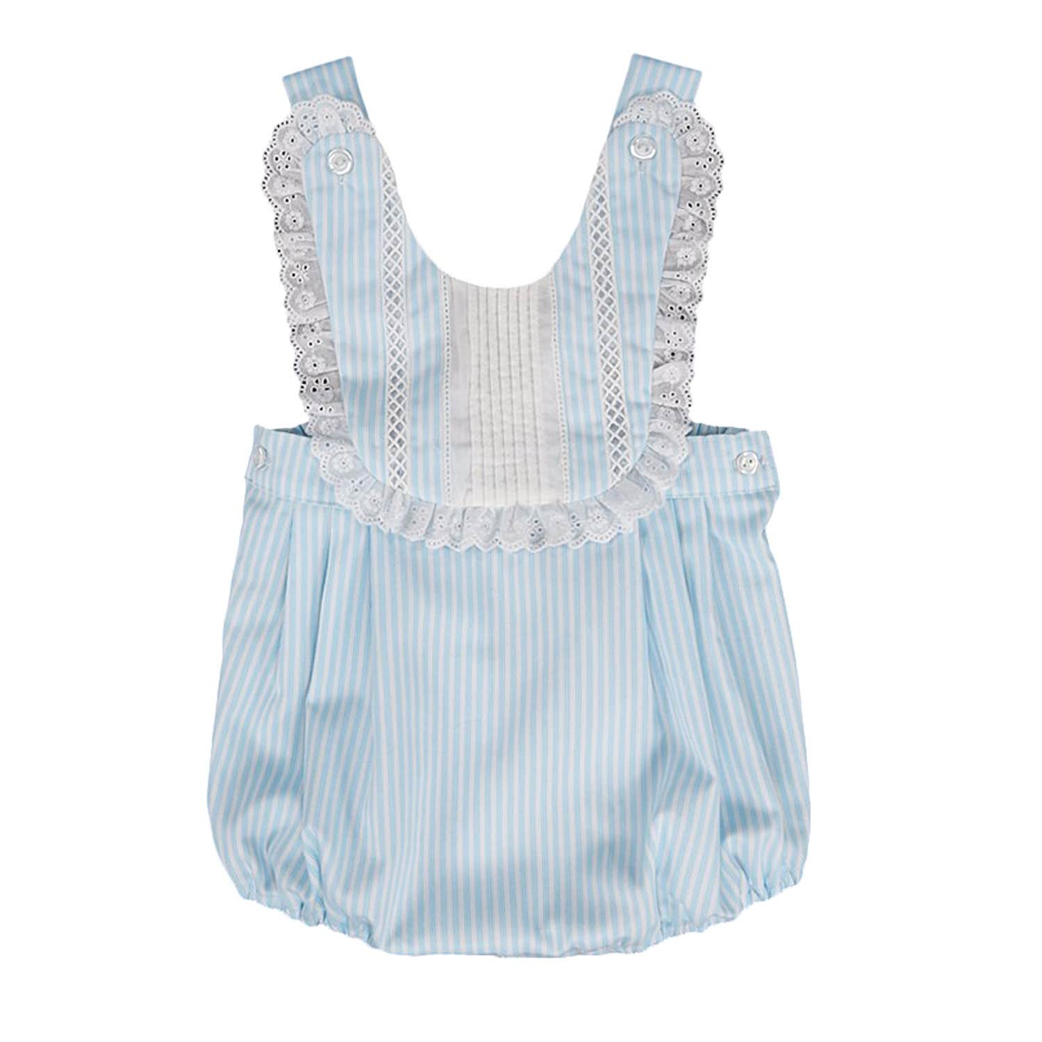 Castelln Blue Lace Medley Baby Boy Romper Spanish Clothing In White Image