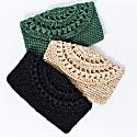 Cunda Crochet Clutch Bag in Beige image